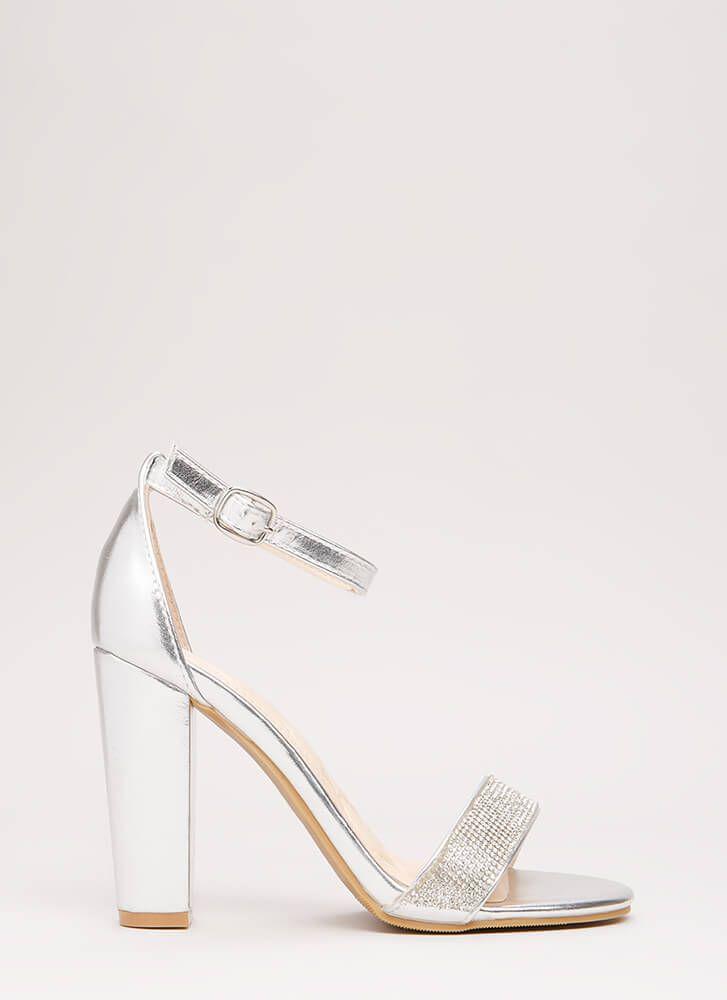 210b18fe0e4 Show Me The Sparkle Chunky Heels SILVER GOLD - GoJane.com