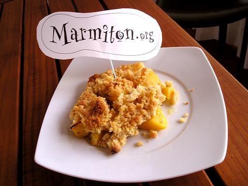 Crumble aux mangues : Recette de Crumble aux mangues - Marmiton