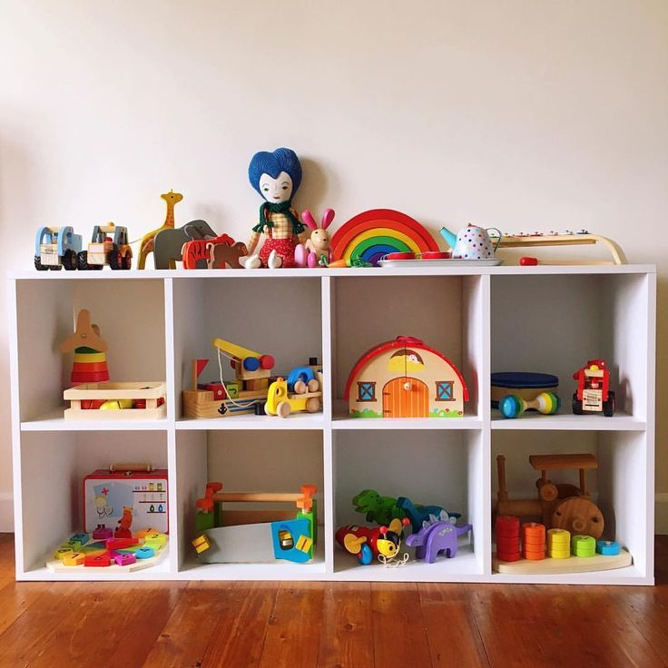 Play room with wooden toys.
