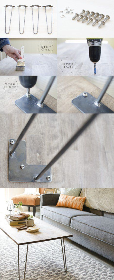Mesa con pies hairpin - Vía ellavine.com