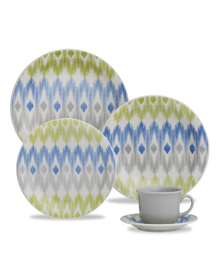 Oxford Porcelanas - Floreal Ikat 30 peças
