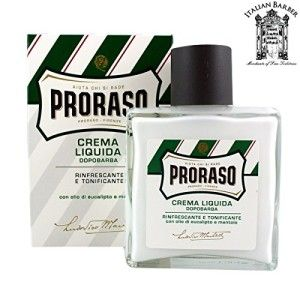 After shave balm proraso menthol. For more go to http://www.philipsnorelcomultigroom.com/product/proraso-menthol-eucalyptus-liquid-cream-aftershave-balm-new-green-line-balm/