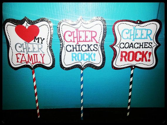 Cheer Photo Booth Props by RebelChickBoutique on Etsy