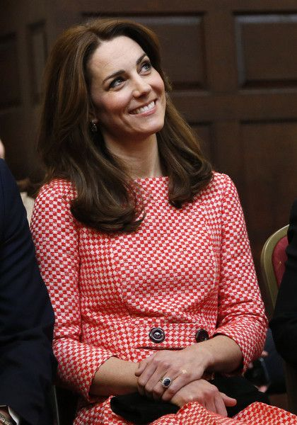 Catherine, Duchess of Cambridge smiles as she visits the mentoring programme of the XLP project at London Wall on March 11, 2016