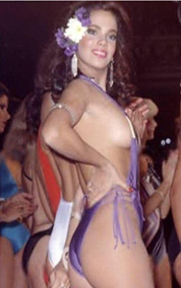 tatiana capote en 1979 Representó a Venezuela en Miss mundo y por el escándalo del tirante foto fue descalificada