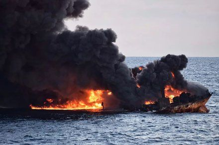 Hope Fades for Missing Crew Members as Iranian Oil Tanker Sinks