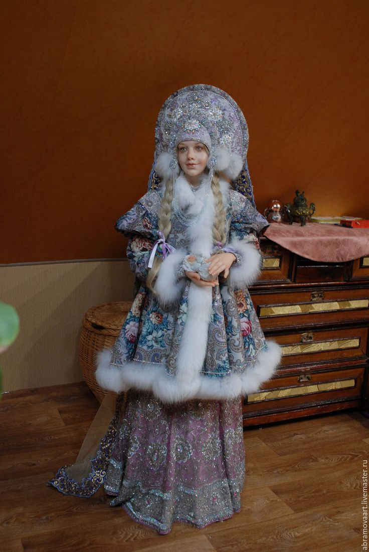 """Купить кукла авторская """"Снегурочка"""" - бледно-сиреневый, снегурочка, кукла интерьерная, единственный экземпляр"""