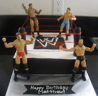 WWF cake due April 7th.  Double chocolate, strawberry buttercream.  Buttercream frosting with MMF accentsWrestling Birthday, Birthday Parties, Wwe Cake, Boys Birthday Cake Diy, Wwe Parties, Cake Ideas, Parties Ideas, Wwe Birthday Cake, Birthday Ideas