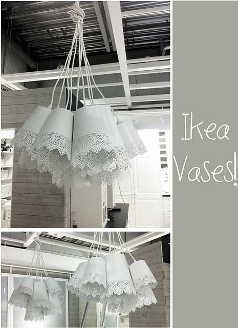 DIY lamp from Ikea vases