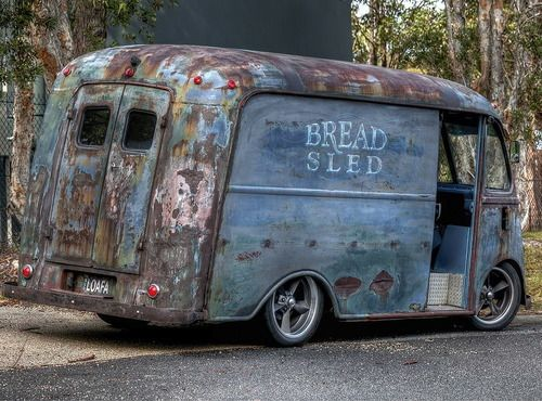 Classic upholstery delivery van. #Rust #Vintage #Junkyard