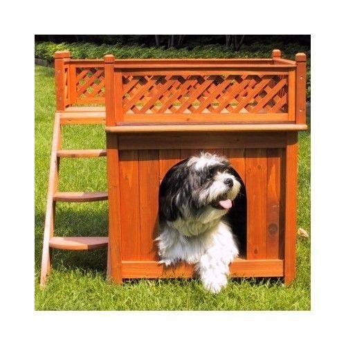 Dog Pet House Wooden Indoors Outdoors Light Weight Medium Comfortable Easy Clean