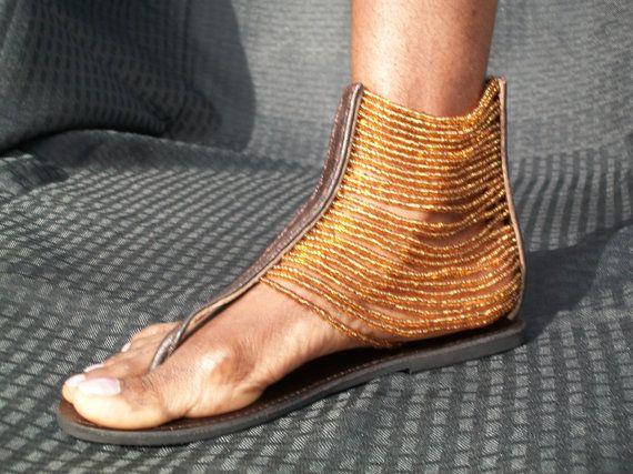 Sandales de perles africaine Masai
