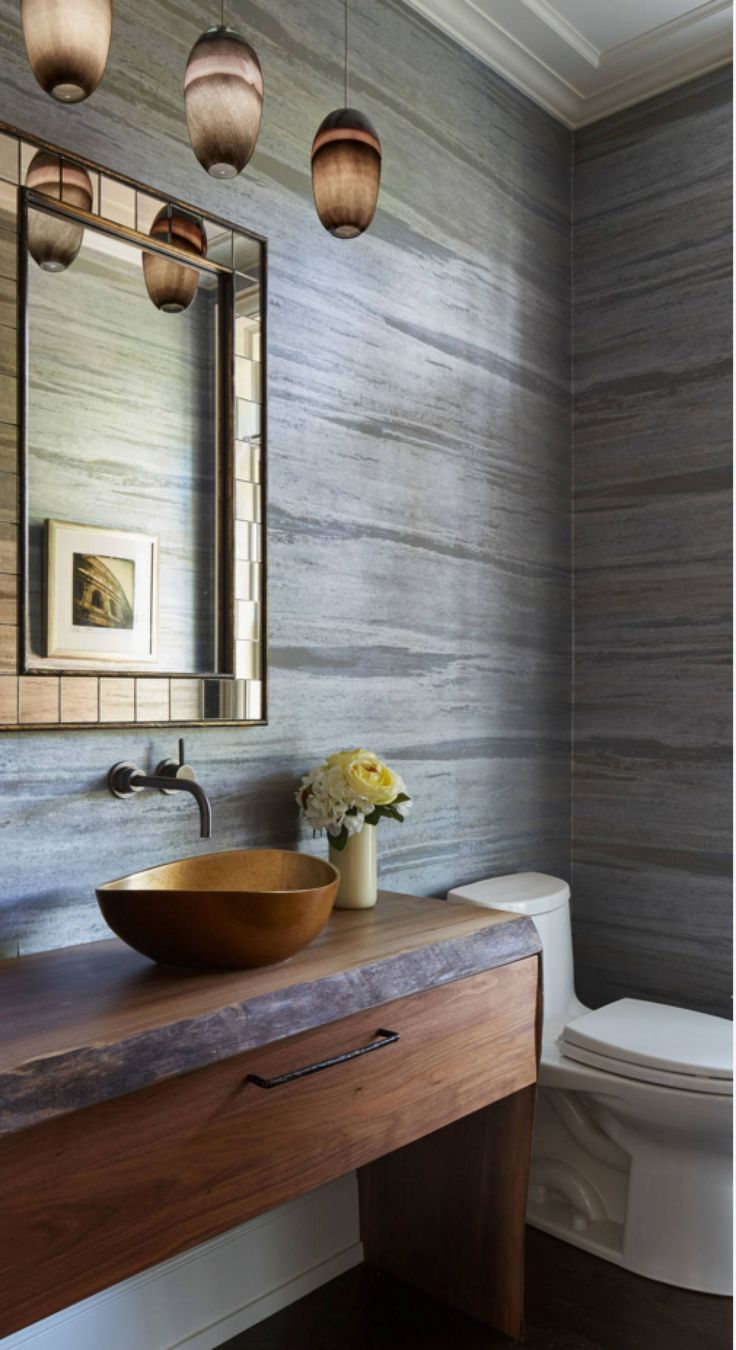 25 best wallcoverings in the bathroom images on pinterest for Bathroom wallpaper wall coverings