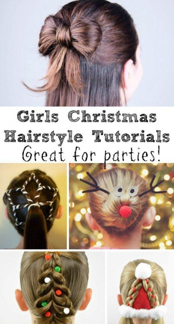 With Christmas Party Season Around The Corner A Fun And Festive Hair Style Is A Great Way To Make An Outfit In 2020 Christmas Hairstyles Christmas Girl Christmas Hair