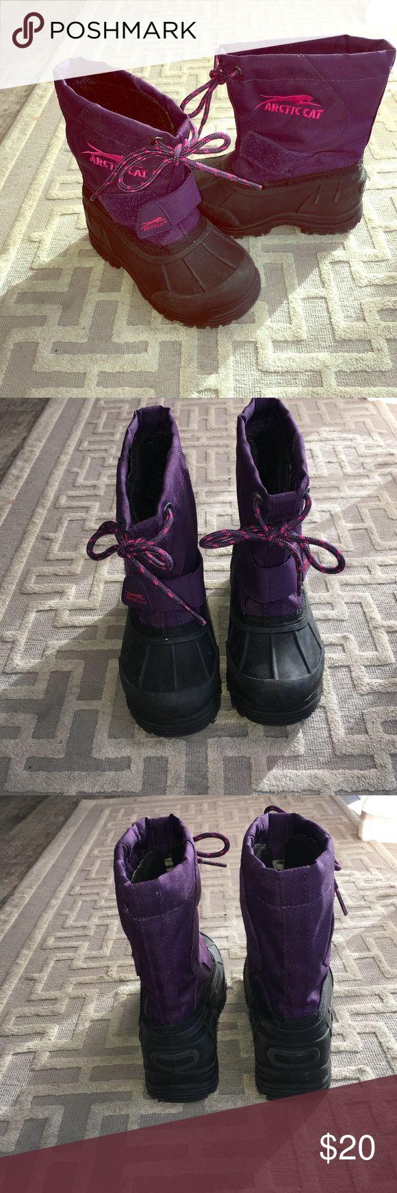 Arctic Cat ~NWOT ~Winter Snow Boot ~Toddler Size 8 Arctic Cat ~NWOT ~Winter Snow Boot ~Toddler Size 8 ~Velcro & Tie to Tighten Arctic Cat Shoes Rain & Snow Boots