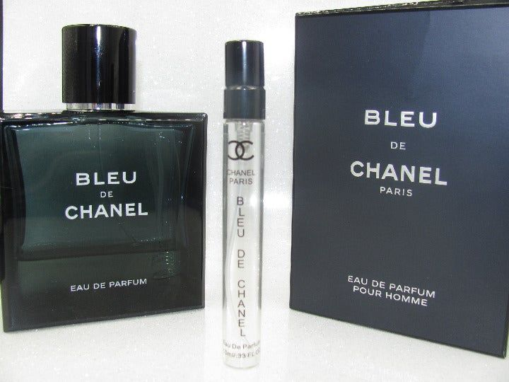 Bleu De Chanel Eau De Parfum 10ml Reusable Glass Vial The Listing Is For The 10ml Sample Travel Spray Atomizer Show Chanel Fragrance Eau De Parfum Fragrance