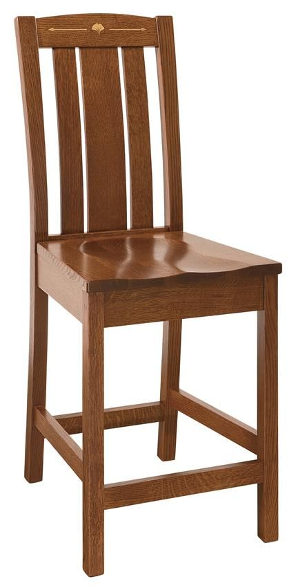 Amish Mesa Bar Stool This mission style furniture blends well with traditional or contemporary decor.