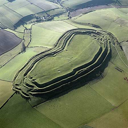 Maiden Castle, near Dorchester, Dorset