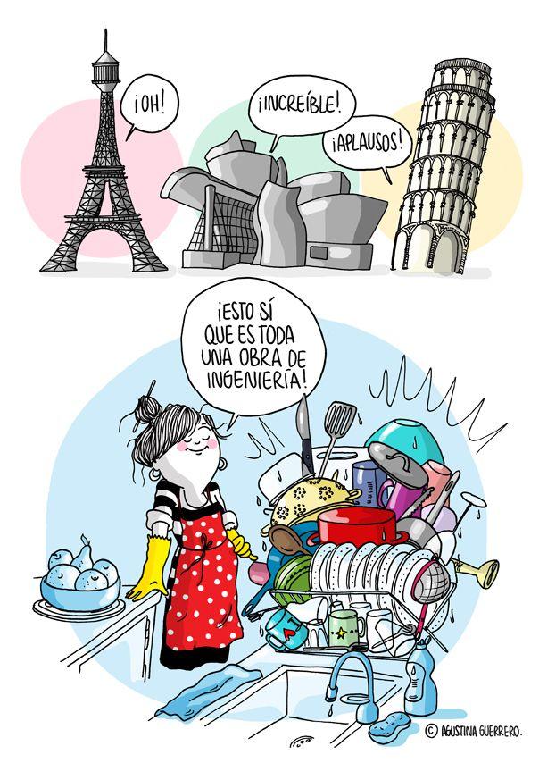 Como la vida misma!! (agustina guerrero · illustration: Diario de una volátil ·ingeniera·)