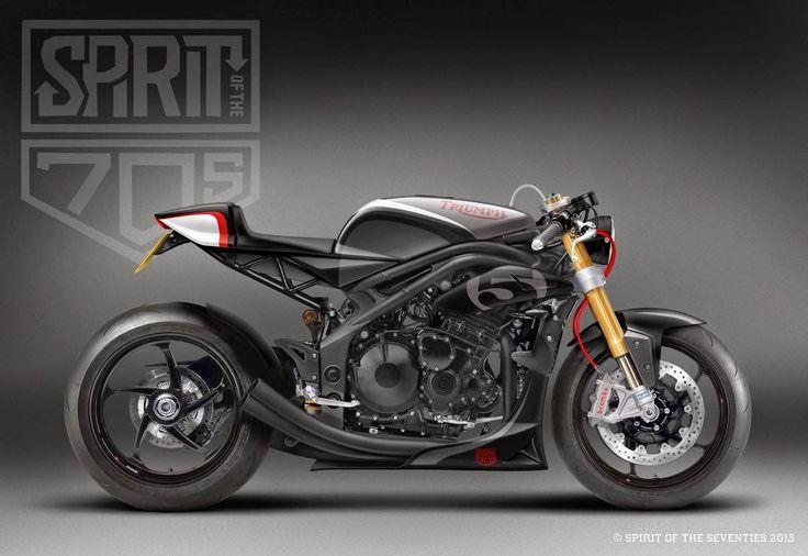 Triumph Speed Triple Cafe Idea Di Immagine Del Motociclo