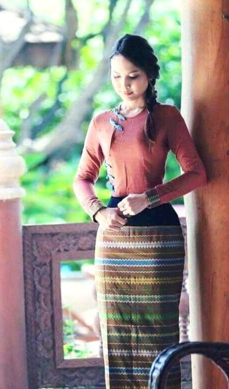 Myanmar longyi dress