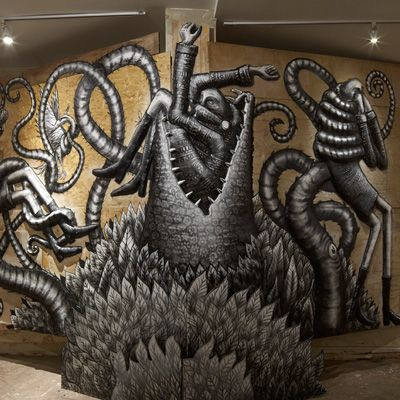 """The Bestiary"""" em cartaz em Londres, Phlegm apresenta ilustrações de animais hibrídos, uma mistura do real e do imaginário."""