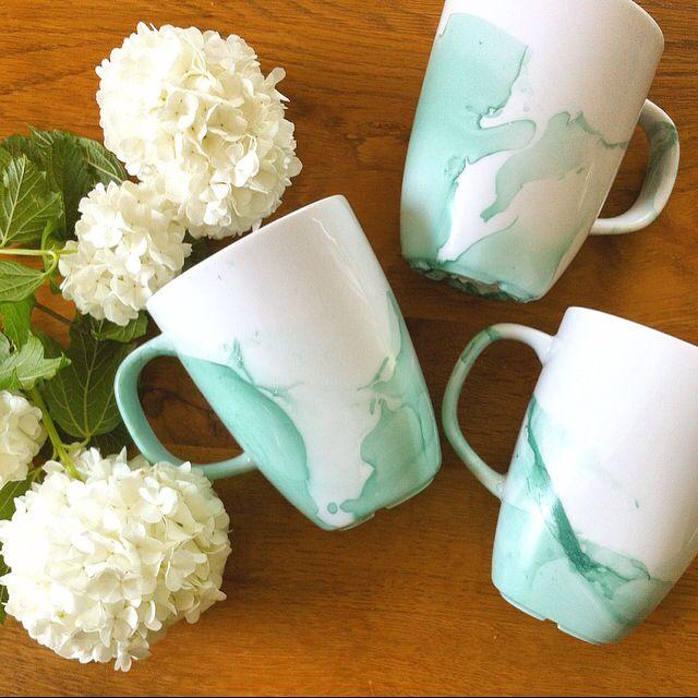 Wassermalfarben Tasse - Nagellack Tasse - Watercolour Mug ...