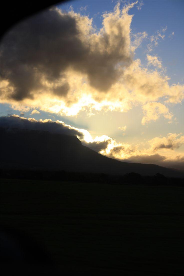 West Coast Tasmania. Sunset near Poatina. Taken while driving