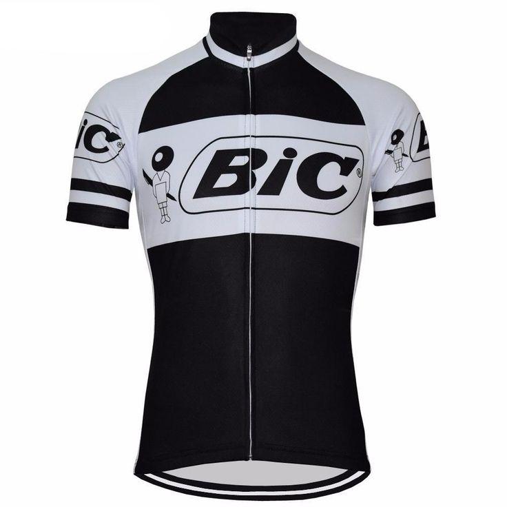 Retro Black Bic Cycling Jersey