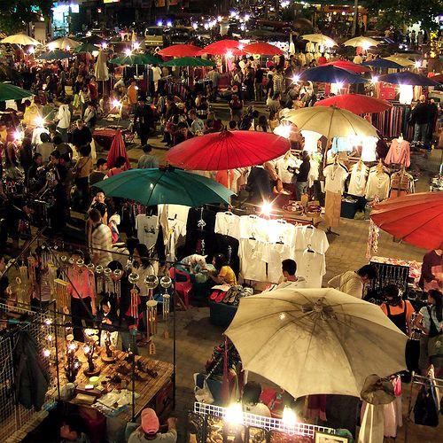Night Bazaar, Chiang Mai, Thailand.  So much fun! © Filipe Fortes