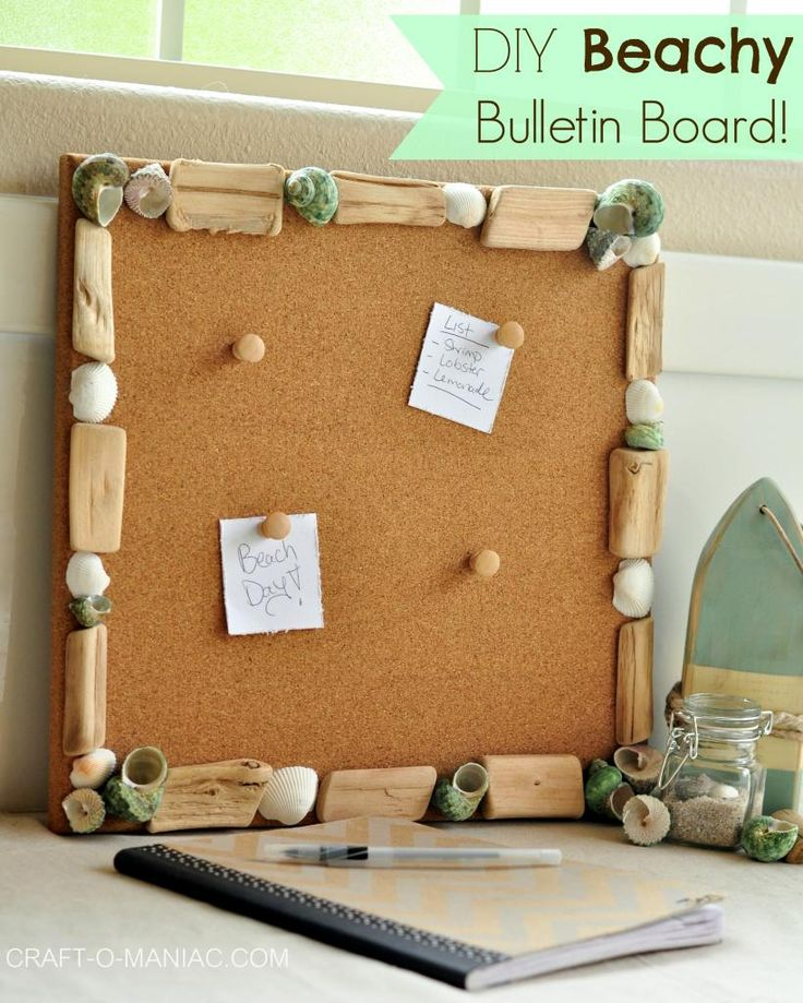18 best images about scotty 39 s beach theme bulletin board for Diy bulletin board for bedroom