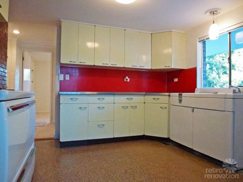 1955 Mid Century Modern House Time Capsule   Just 1,300 S.f., But Packed  With Spectacular. Vintage Kitchen CabinetsKitchen RetroRetro ...