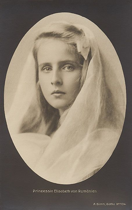 Princess Elisabeth of Romania as a young girl.  Though not as beautiful as her…