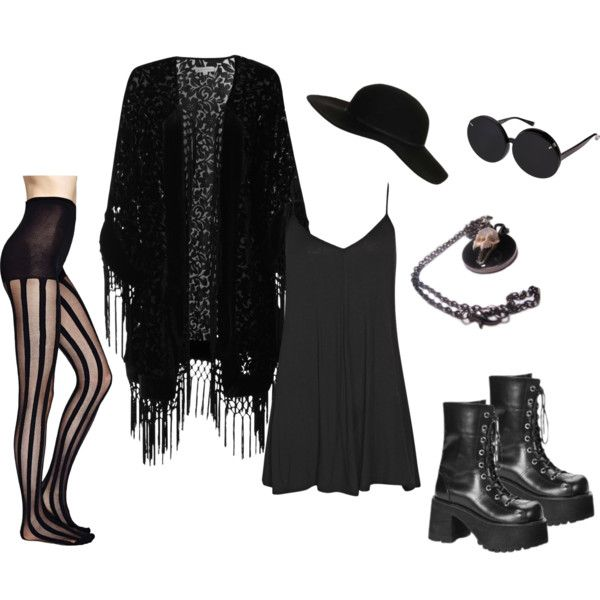 """Irish Summer Goth"" by von-bats on Polyvore"