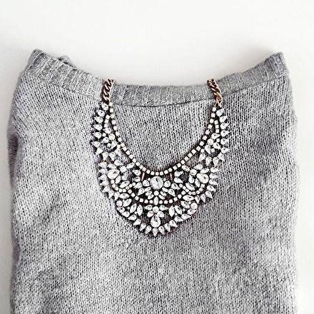 Liebesgeschichten-Statement-Halskette – #fashion #schmuck #necklace #ootd #glam # trends2