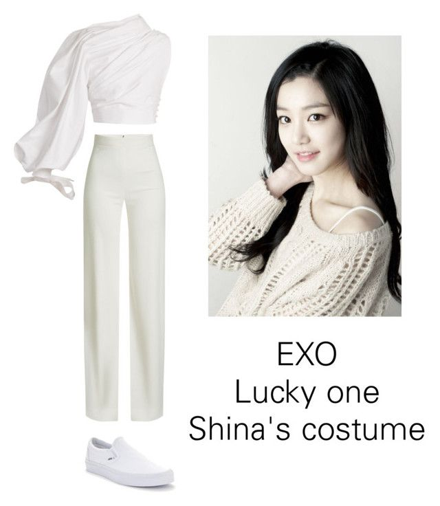 """Shina's costume for Lucky one"" by pantsulord on Polyvore featuring Jacquemus, Vans and Brandon Maxwell"