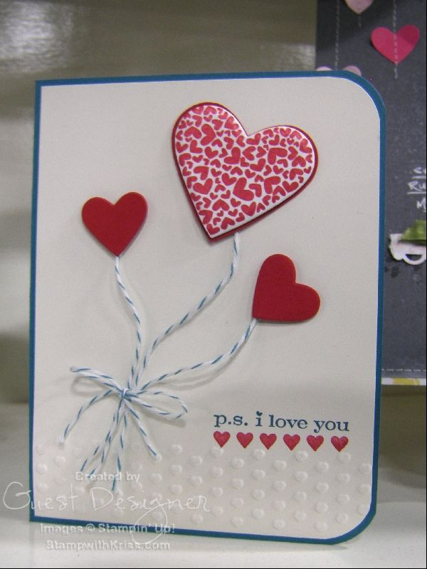 stampin up card ideas | StampWithKriss.com » stampin up valentine's day ideas