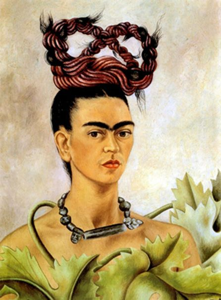 Painting by Frida Kahlo, Self Portrait With Braid, 1941.