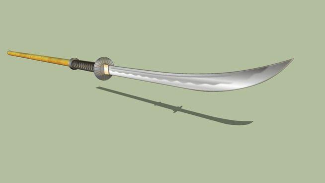 Large preview of 3D Model of Naginata