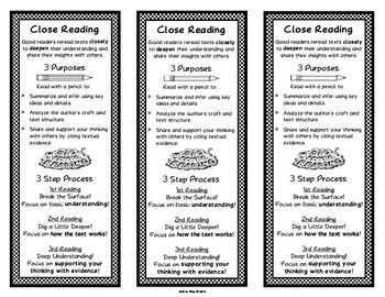 Close Reading Bookmarks {FREE}