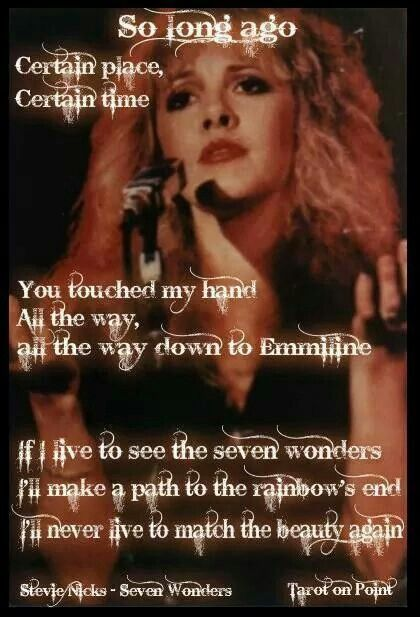 Seven Wonders by Fleetwood Mac - such a beautiful song, it makes me tear up sometimes