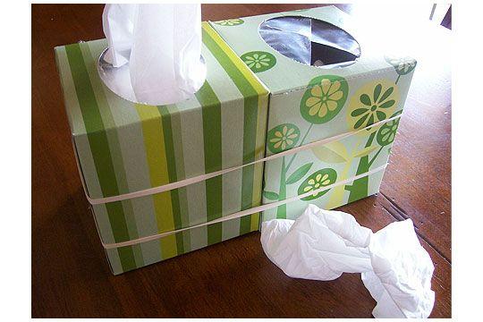 Doppelte Taschentuchbox