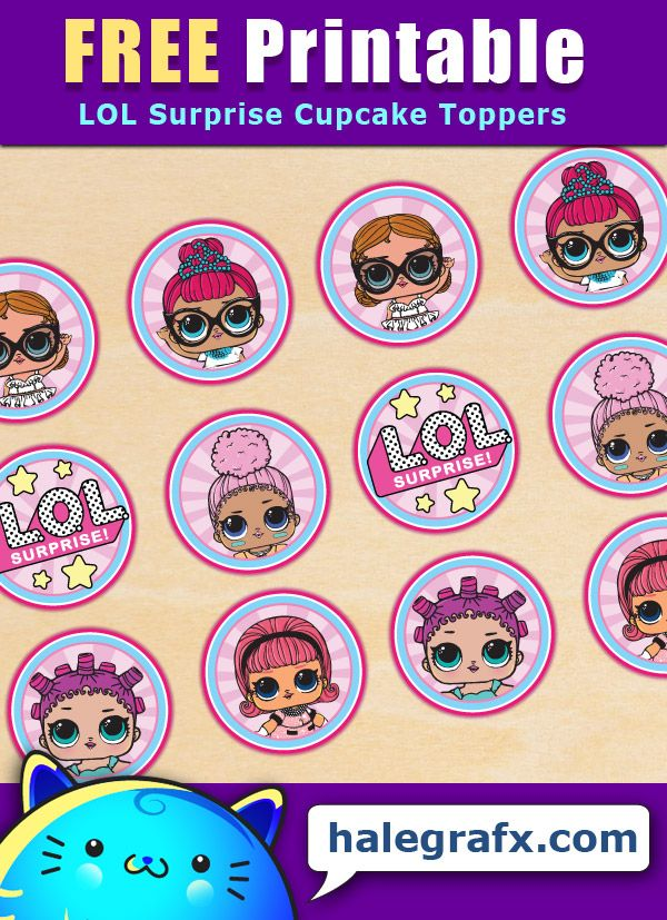 FREE Printable LOL Surprise Cupcake Toppers | ( Free Printable Lists