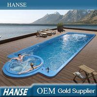 HS-SP12-1 12 m de longitud de fibra de vidrio caliente tinas outdoor gran piscina - Identificación del producto : 60083395122 - m.spanish.alibaba.com