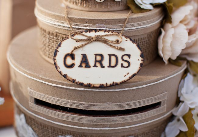 rustic glam wedding   18 Things You Can Use For A Card Box At Your Reception - The Knot Blog