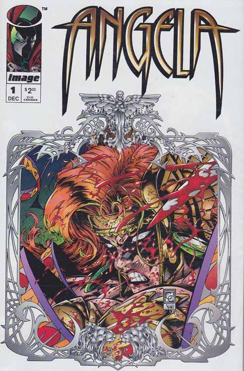 Angela #1 Neil Gaiman Story Greg / Capullo Pencils - Cover Art - Inks. Angela is a fictional character that was originally part of Todd McFarlane's Spawn comic book series. The character was created for the series by writer Neil Gaiman and artist Todd McFarlane