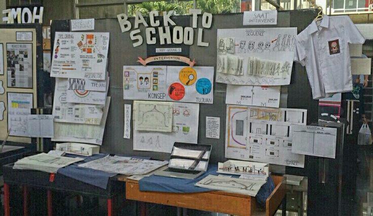 """Layout Display """"Back to School"""" oleh Kelompok 7"""