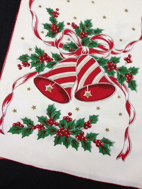 16 Best Vintage Christmas Linens And Fabrics Images On