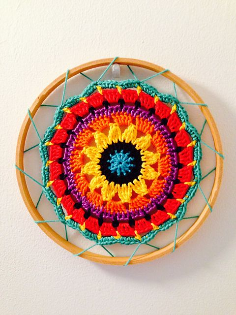 Ravelry: Project Gallery for Sunny Flower Mini Mandala pattern by zelna olivier