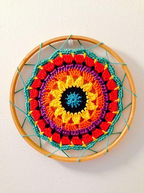 Ravelry: Project Gallery for Sunny Flower Mini Mandala pattern by zelna olivier